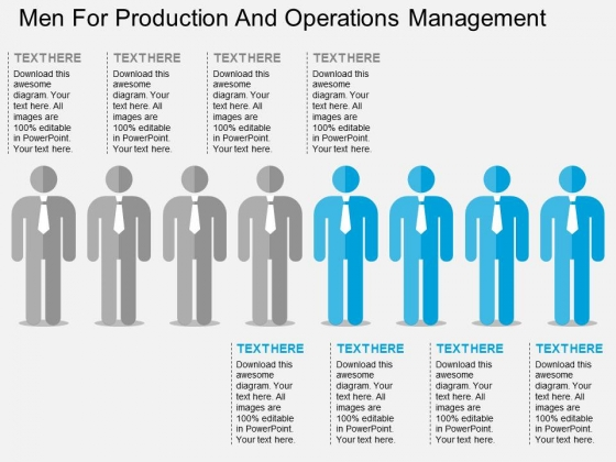 Men For Production And Operations Management Powerpoint Template