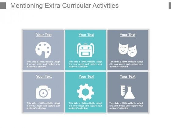 Mentioning Extra Curricular Activities Powerpoint Slide Background Picture