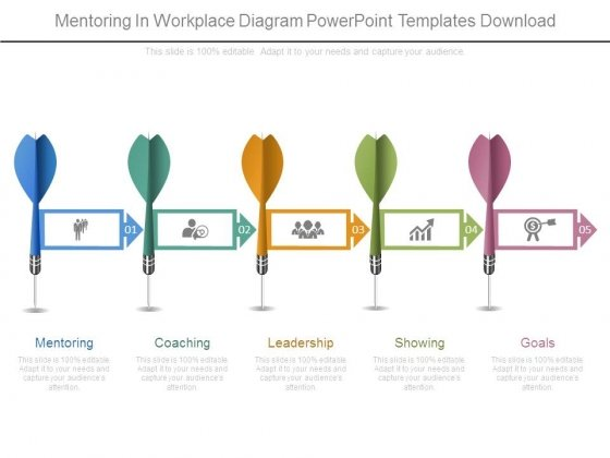 Mentoring In Workplace Diagram Powerpoint Templates Download