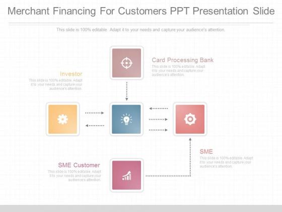 Merchant Financing For Customers Ppt Presentation Slide
