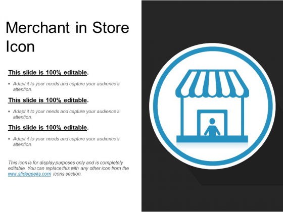 Merchant In Store Icon Ppt PowerPoint Presentation Professional Deck