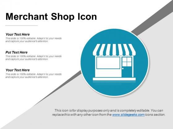 Merchant Shop Icon Ppt PowerPoint Presentation Background Image