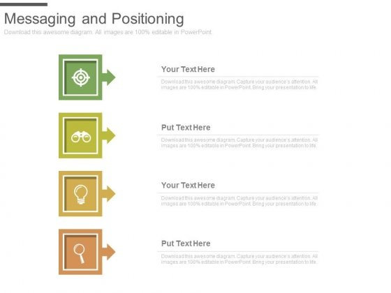 Messaging And Positioning Business Target Ppt Slides