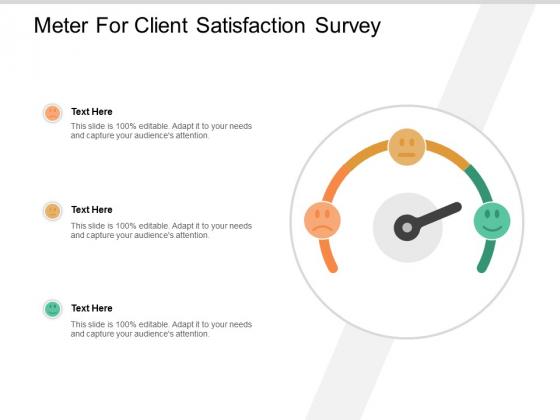 Meter For Client Satisfaction Survey Ppt PowerPoint Presentation Portfolio Outline
