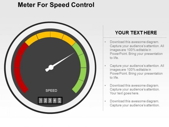 Meter For Speed Control Powerpoint Templates