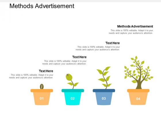 Methods Advertisement Ppt PowerPoint Presentation Portfolio Model Cpb