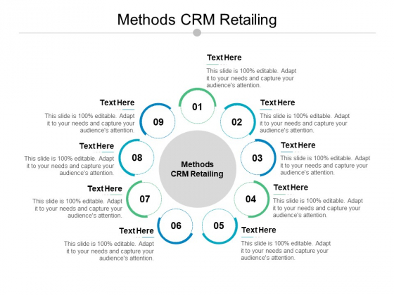 Methods CRM Retailing Ppt PowerPoint Presentation Inspiration Guidelines Cpb