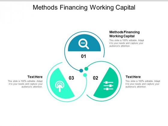 Methods Financing Working Capital Ppt PowerPoint Presentation Summary Introduction Cpb