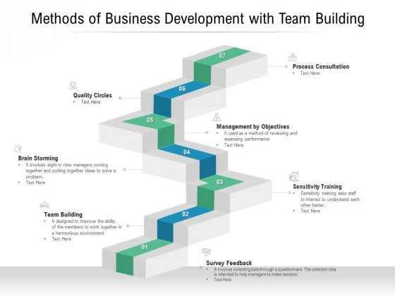 Methods Of Business Development With Team Building Ppt PowerPoint Presentation Infographic Template Design Templates