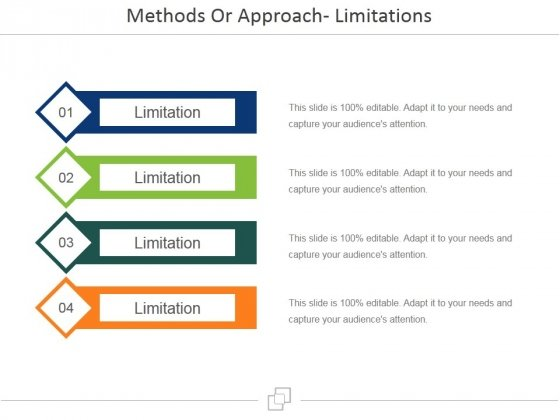 Methods Or Approach Limitations Ppt PowerPoint Presentation Gallery Skills