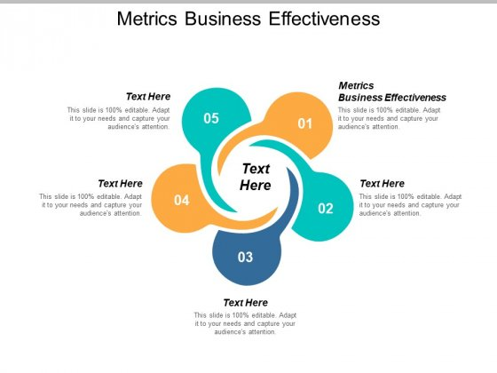 Metrics Business Effectiveness Ppt PowerPoint Presentation Slides Example Topics Cpb