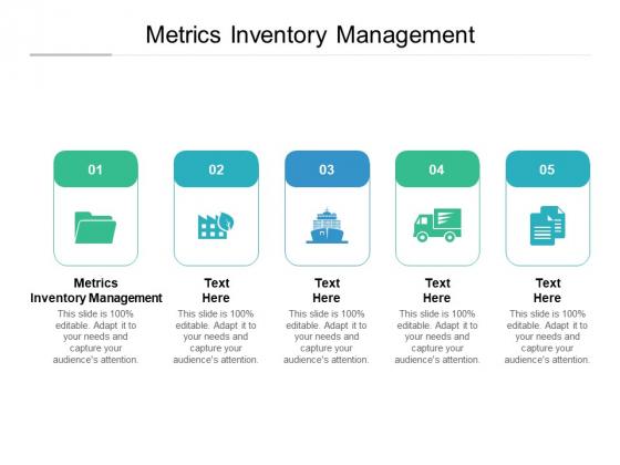 Metrics Inventory Management Ppt PowerPoint Presentation Infographics Graphics Cpb Pdf