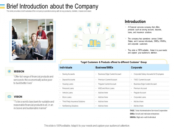 Mezzanine Debt Financing Pitch Deck Brief Introduction About The Company Inspiration PDF
