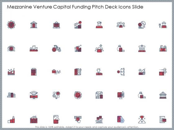 Mezzanine Venture Capital Funding Pitch Deck Icons Slide Ideas PDF