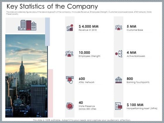 Mezzanine Venture Capital Funding Pitch Deck Key Statistics Of The Company Structure PDF