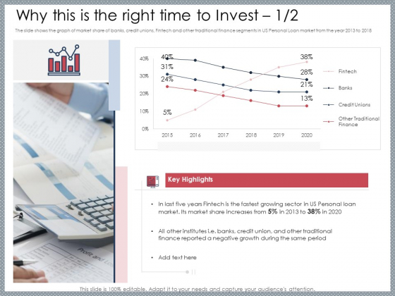 Mezzanine Venture Capital Funding Pitch Deck Why This Is The Right Time To Invest Finance Ideas PDF