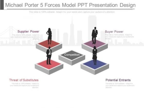 Michael Porter Five Forces Model Ppt Presentation Design