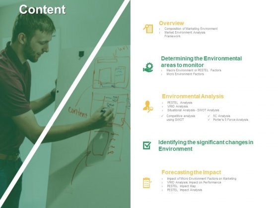 Micro Macro Environment Elements Content Ppt Inspiration Format Ideas PDF