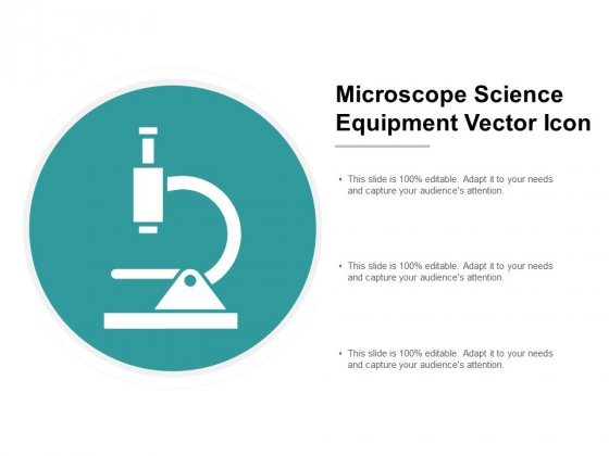 Microscope Science Equipment Vector Icon Ppt PowerPoint Presentation Professional Deck