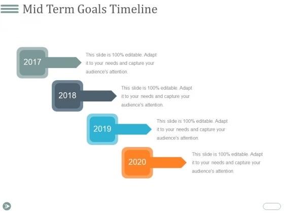 Mid Term Goals Timeline Ppt PowerPoint Presentation Infographics Demonstration