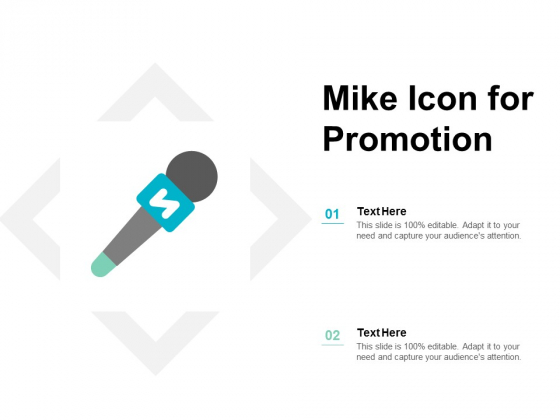 Mike Icon For Promotion Ppt PowerPoint Presentation Layouts Clipart Images