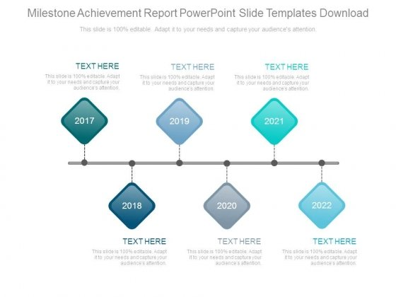 milestone achievement report powerpoint slide templates download