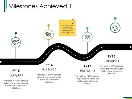 Milestones Achieved 1 Ppt PowerPoint Presentation Pictures Slide Portrait
