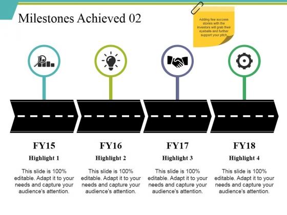 Milestones Achieved 2 Ppt PowerPoint Presentation Infographics Shapes