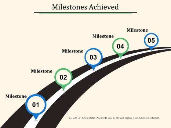 Milestones Achieved Ppt PowerPoint Presentation File Smartart