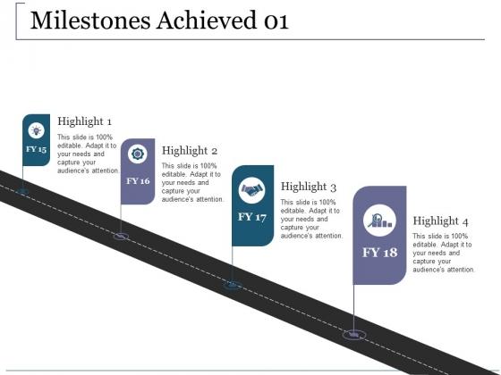 Milestones Achieved Template 1 Ppt PowerPoint Presentation File Visuals
