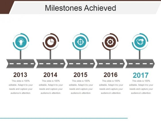Milestones Achieved Template 1 Ppt Powerpoint Presentation Summary
