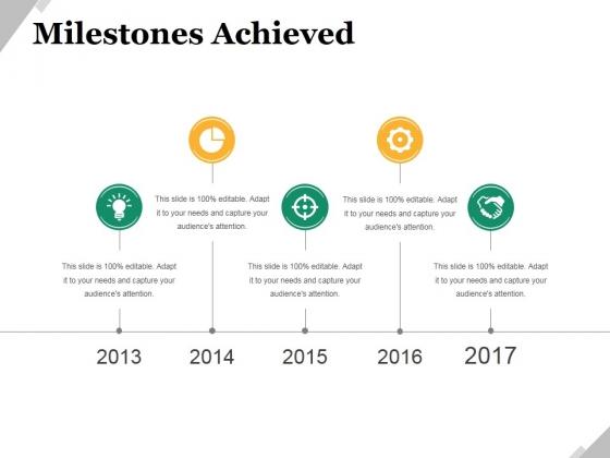 Milestones Achieved Template 2 Ppt PowerPoint Presentation Show Icon