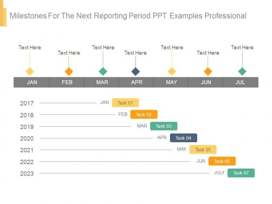 Milestones For The Next Reporting Period Ppt Examples Professional