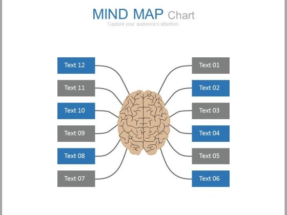 Mind Map Chart For Creative Thinking Powerpoint Slides