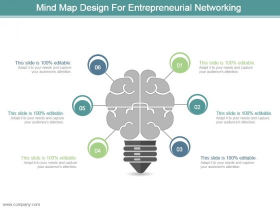 Mind Map Design For Entrepreneurial Networking Ppt Design