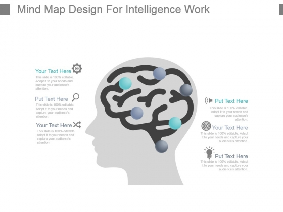 Mind Map Design For Intelligence Work Powerpoint Slide Inspiration
