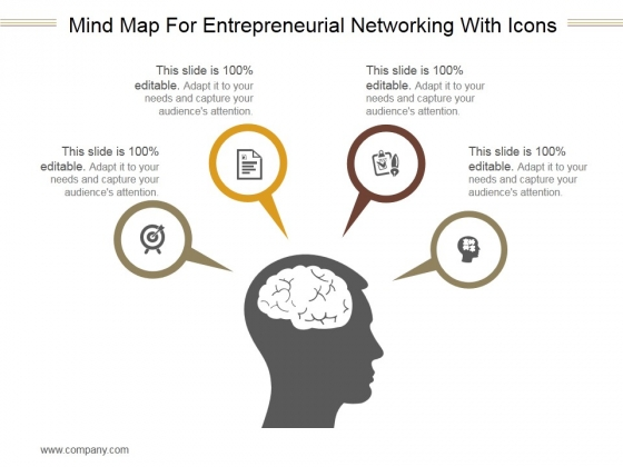 Mind Map For Entrepreneurial Networking With Icons Ppt PowerPoint Presentation Images