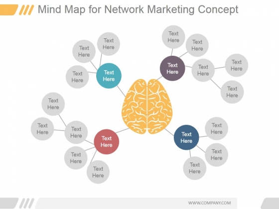 Mind Map For Network Marketing Concept Ppt PowerPoint Presentation Slide Download