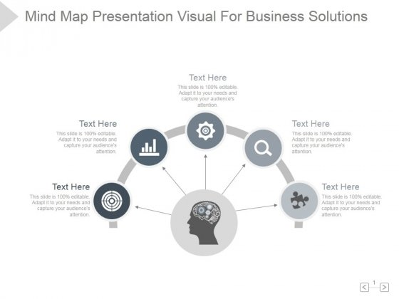 Mind Map Presentation Visual For Business Solutions Ppt PowerPoint Presentation Show