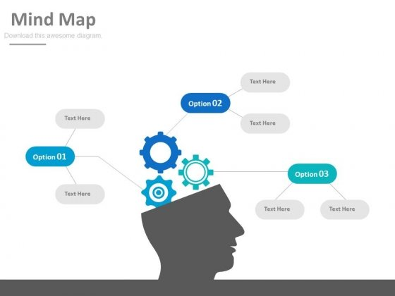 Mind Map With Brain For Project Plan Powerpoint Slides
