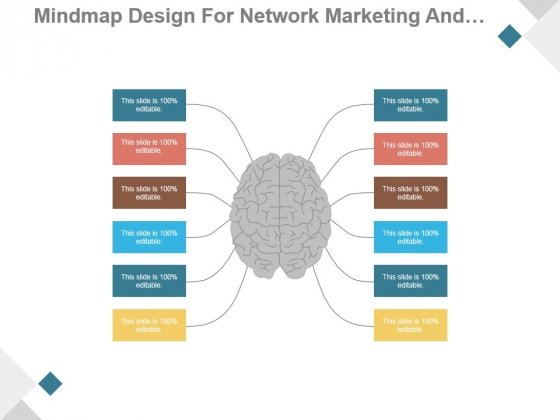 Mindmap Design For Network Marketing And Business Networking Ppt