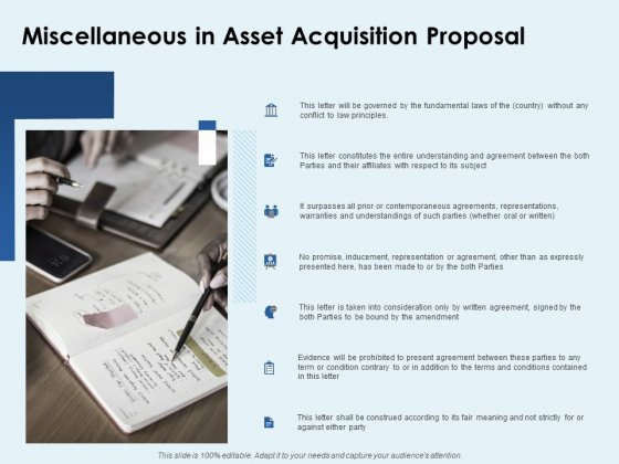 Miscellaneous In Asset Acquisition Proposal Ppt PowerPoint Presentation Slide Download