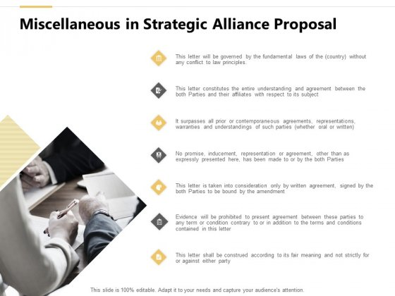 Miscellaneous In Strategic Alliance Proposal Ppt PowerPoint Presentation Styles Slides