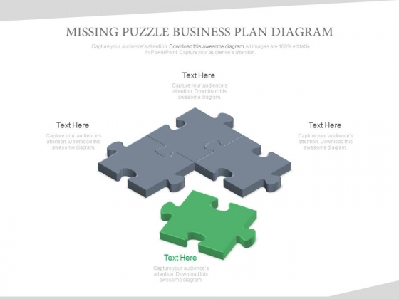 Missing Puzzle Business Plan Diagram Powerpoint Slides