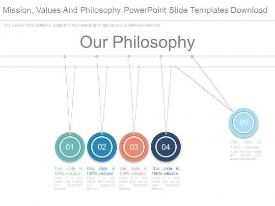 Mission Values And Philosophy Powerpoint Slide Templates Download