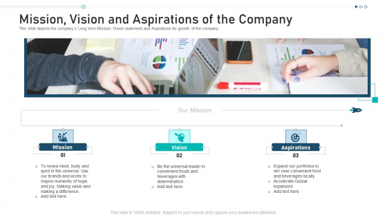 Mission Vision And Aspirations Of The Company Ppt Summary Introduction PDF