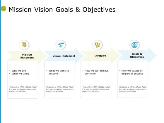 Mission Vision Goals And Objectives Ppt PowerPoint Presentation Icon Graphics Tutorials
