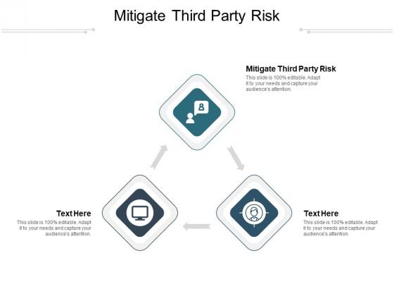 Mitigate Third Party Risk Ppt PowerPoint Presentation Pictures Portrait Cpb Pdf