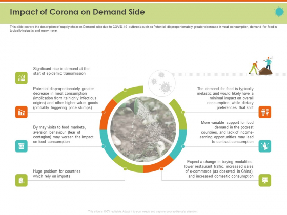 Mitigating The Impact Of COVID On Food And Agriculture Sector Impact Of Corona On Demand Side Graphics PDF