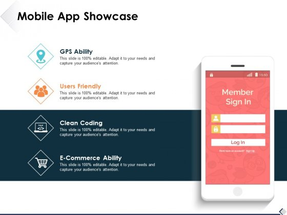 Mobile App Showcase Ppt PowerPoint Presentation Slides Styles